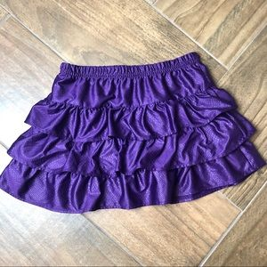 Bottoms - ❤️6/$25 Purple layered reptile  skirt  size 7-8